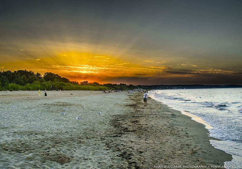 Sunset on the beach by parsek76