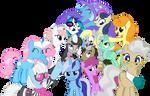 The Mane Background Ponies V2