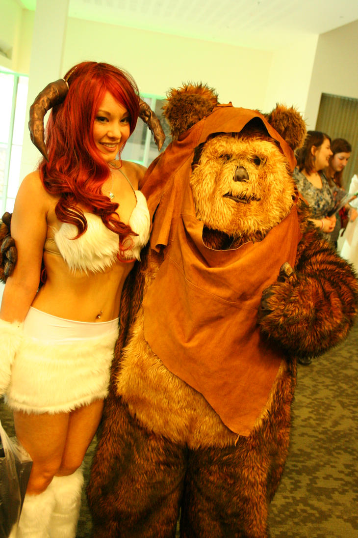 ram girl with ewok eccc 2012 by nwpark on deviantart