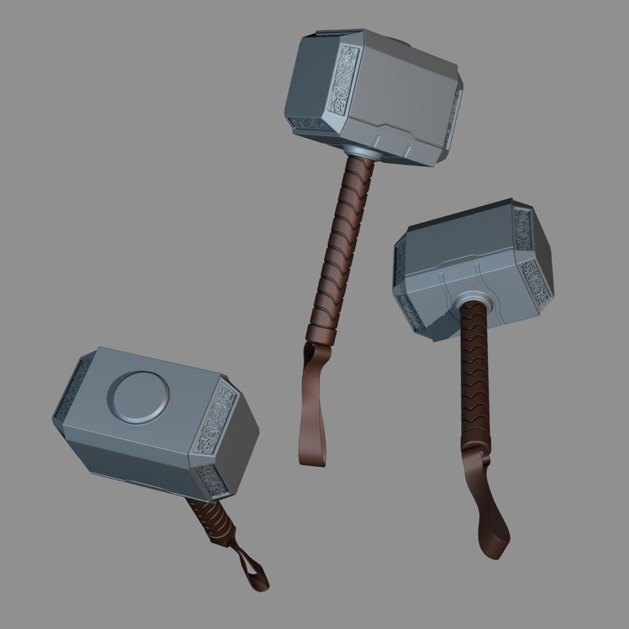 mjolnir aka thor s hammer by landetls on deviantart