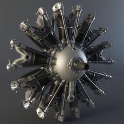 Radial Engine Render