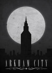 Arkham City - Retro Poster. by nd38