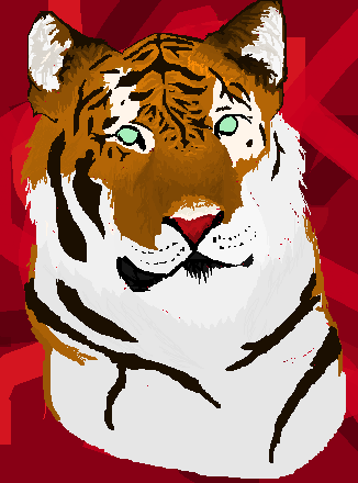 MS Paint Tiger by WalkingDeceit