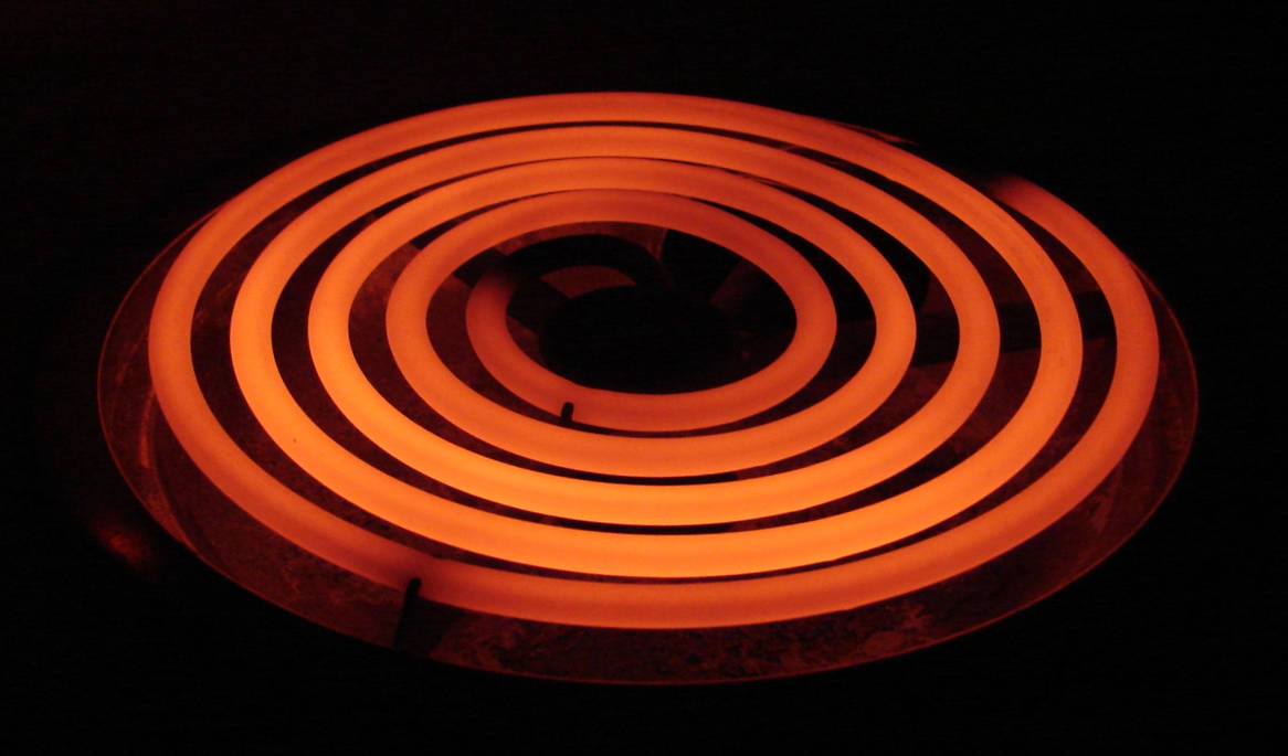 Red Hot Coiled Stove Burner 3 by FantasyStock