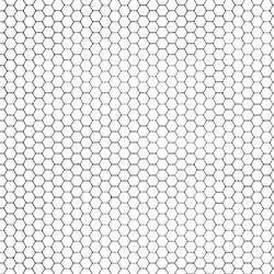Hexagon Grid Gray + White by FantasyStock