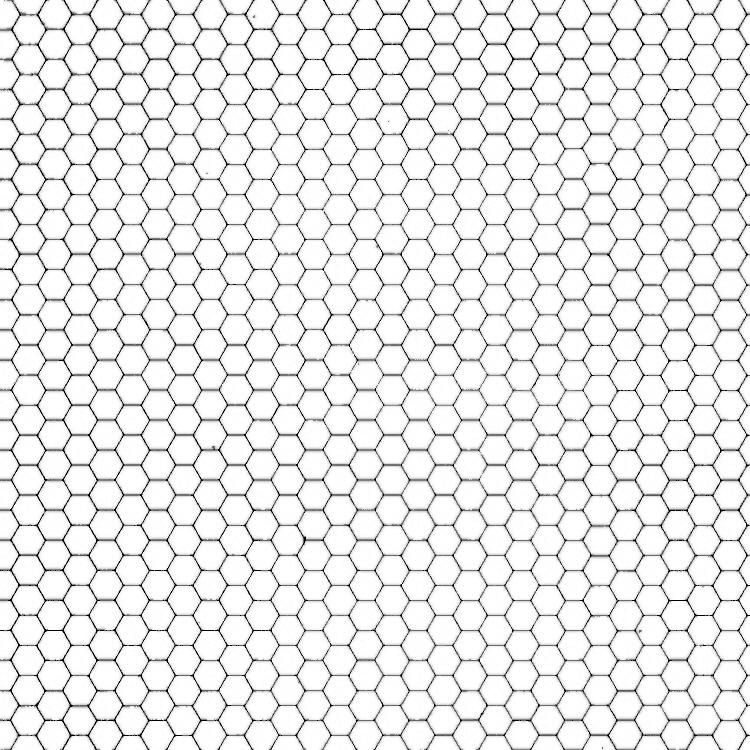 Hexagon Grid Gray + White