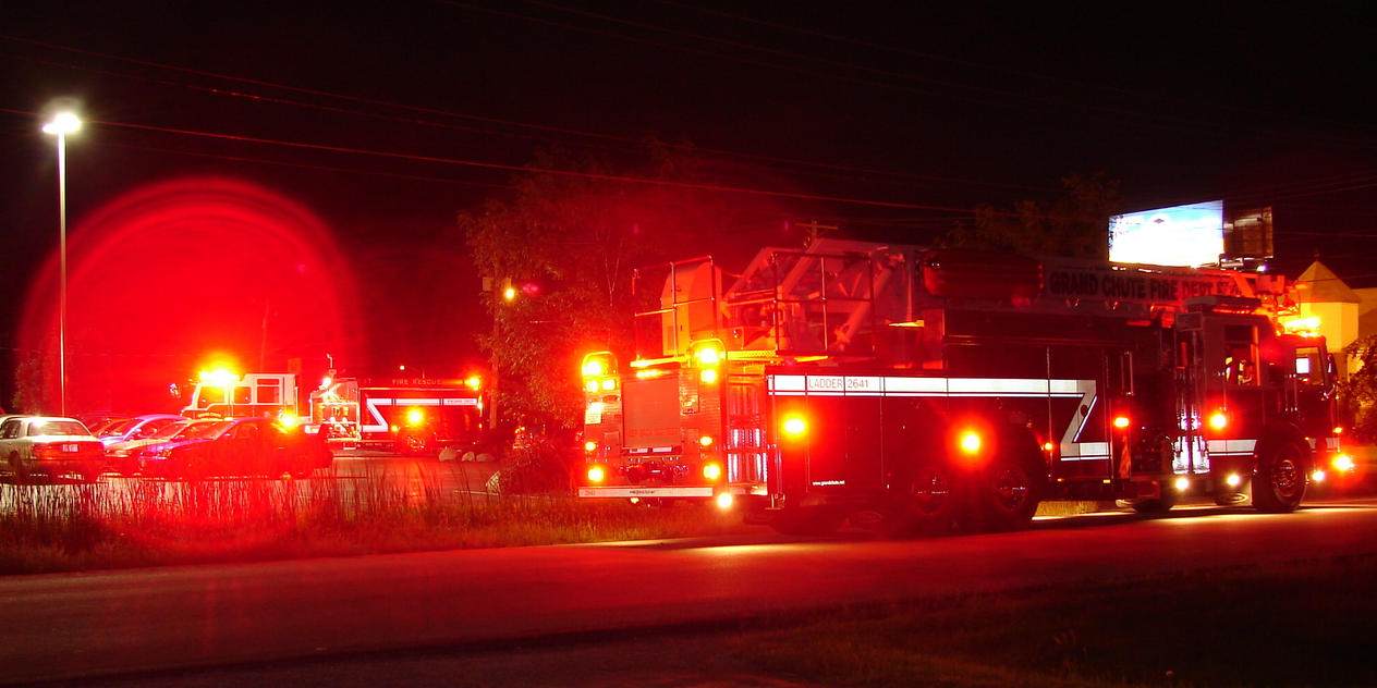 Superior Fire Truck Lights At Night 2 By FantasyStock ... Pictures Gallery