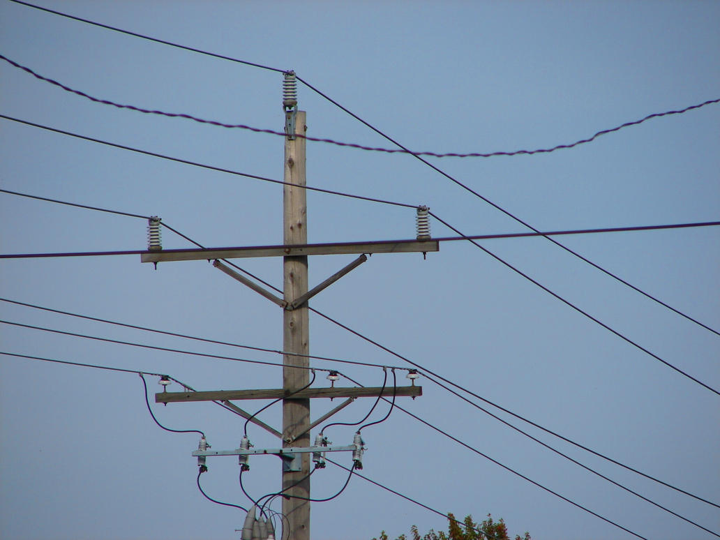 Power Wire Telephone Pole - WIRE Center •