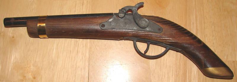 Old Replica Flint Pistol Left
