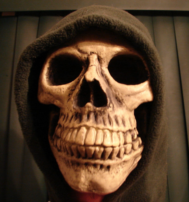 Grim Reaper Hooded Skull
