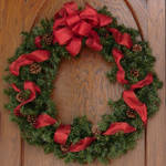 Red Bow Christmas Wreath