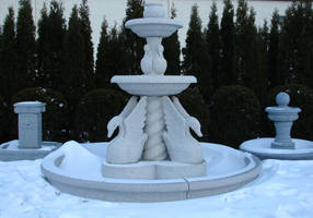 Stone Fountain in Winter 3 by FantasyStock