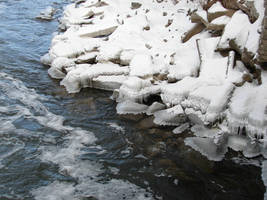Fox Valley Winter River Bank 1 by FantasyStock