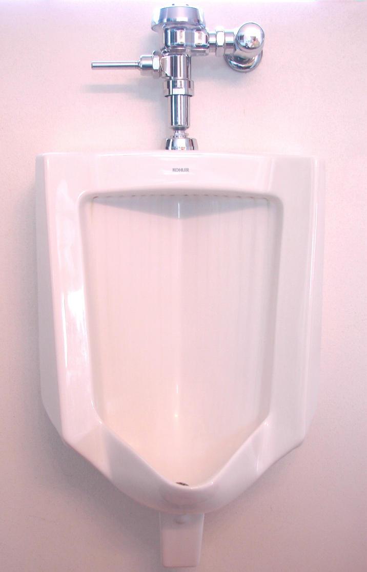 Urinal in bathroom