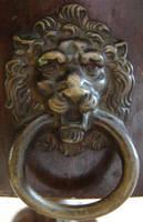 Bronze Lion Door Knocker by FantasyStock