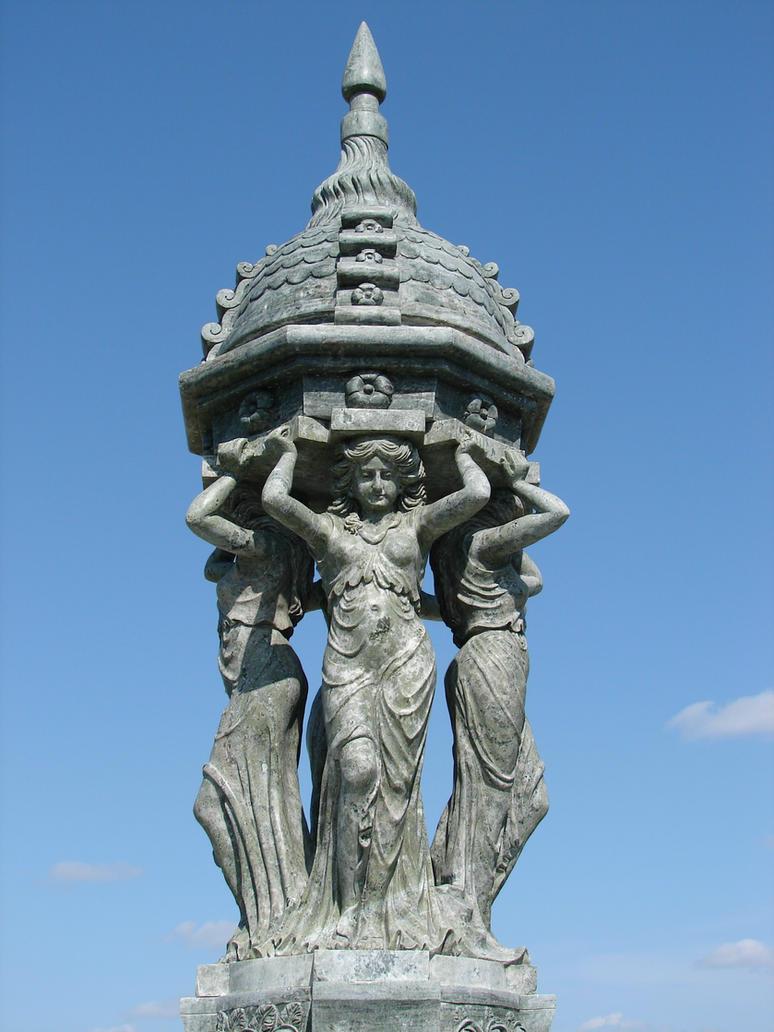 Feminine Stone Garden Statue by FantasyStock