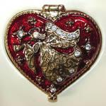 Heart Shaped Angel Trinket Box
