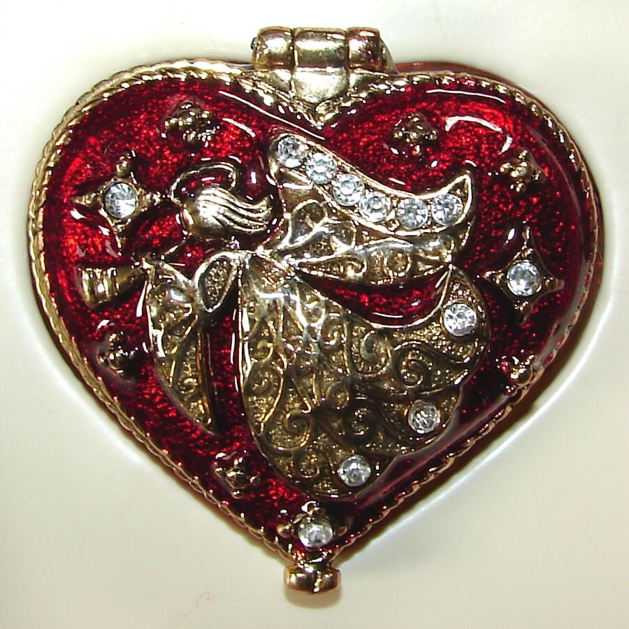 Heart Shaped Angel Trinket Box by FantasyStock