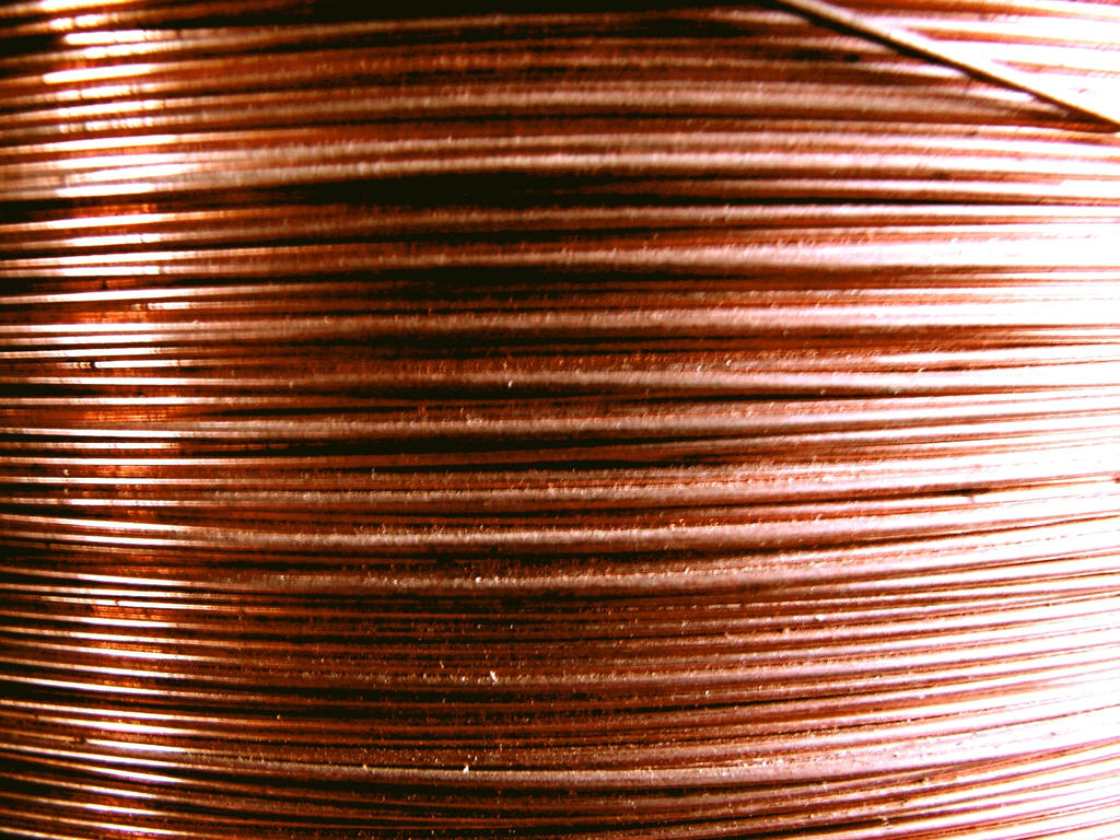 Coiled Copper Wire Texture