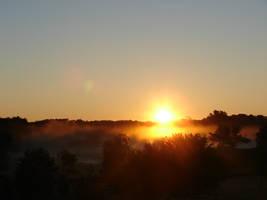 Misty Morning Sunrise 5 by FantasyStock