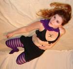 Jodi Purple Stripe Stockings 8