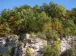 Autumn Cliff Stock Scenery 01