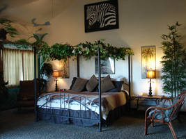 Jungle Room Bedroom by FantasyStock