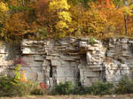 Autumn Cliff Stock Scenery 09