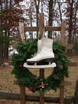 Ice Skates Christmas Wreath