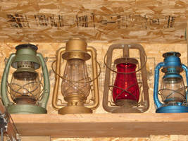 Four Gas Lanterns in a Row by FantasyStock