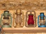 Four Gas Lanterns in a Row