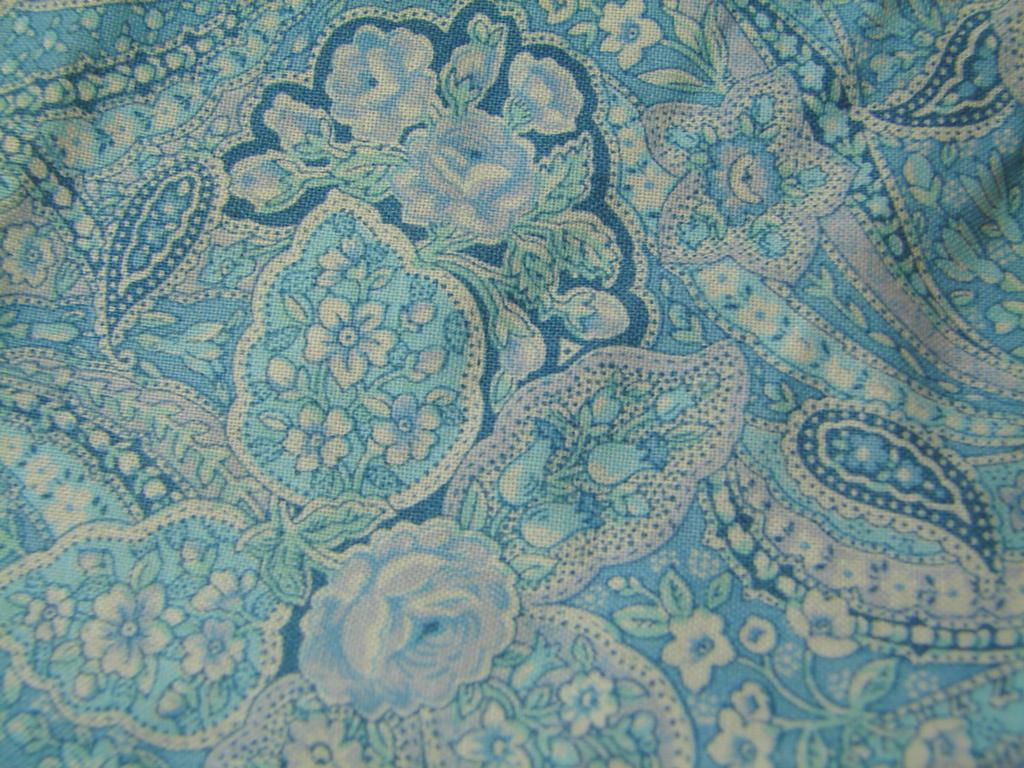 Blue Rose Paisley Fabric