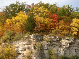 Autumn Cliff Stock Scenery 16 by FantasyStock