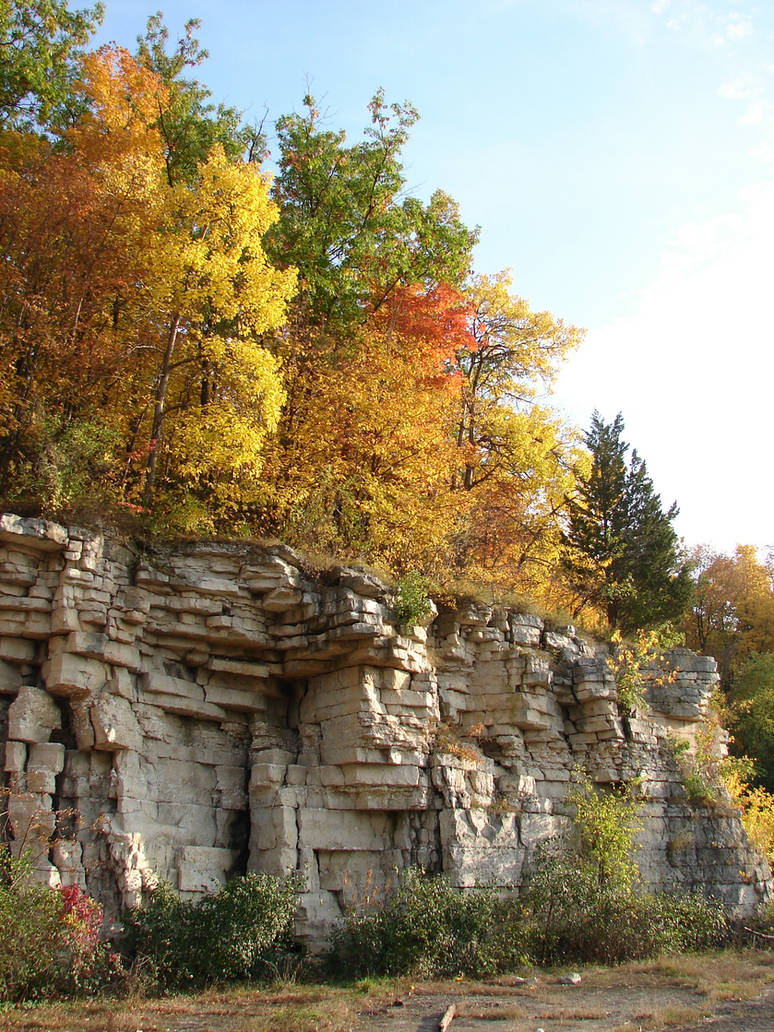 Autumn Cliff Stock Scenery 17 by FantasyStock