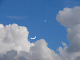 Premade Moon Star Clouds 3 by FantasyStock