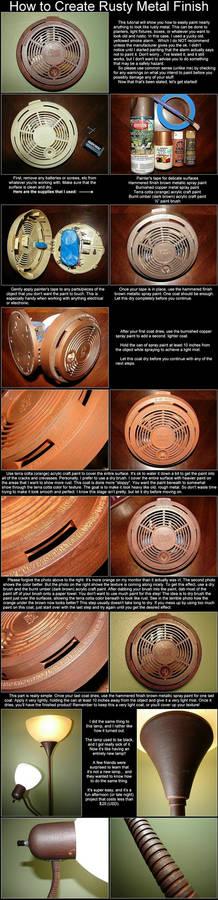 Create Rusty Metal Finish