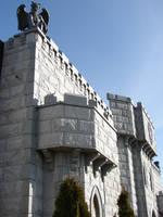 Castle Wall Devil Gargoyle 1 by FantasyStock