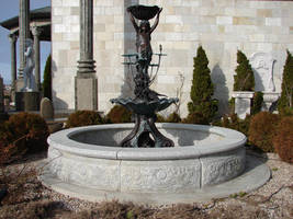 Lily Pad Girl Fountain by FantasyStock