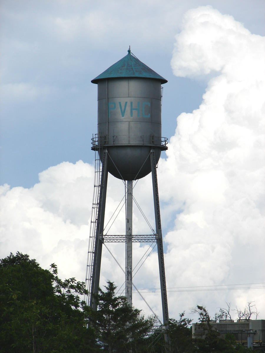 Water Tower Vector Old metal water tower by