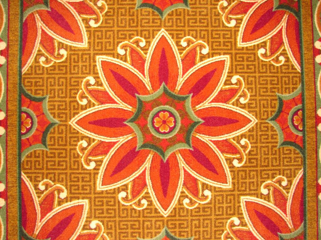 Floral Rose Design Rug by FantasyStock