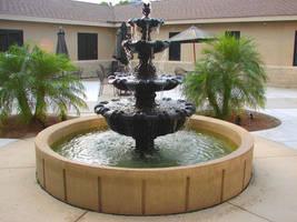 Church Courtyard Fountain by FantasyStock