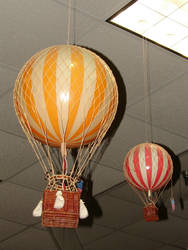 Old Fashioned Hot Air Balloons by FantasyStock
