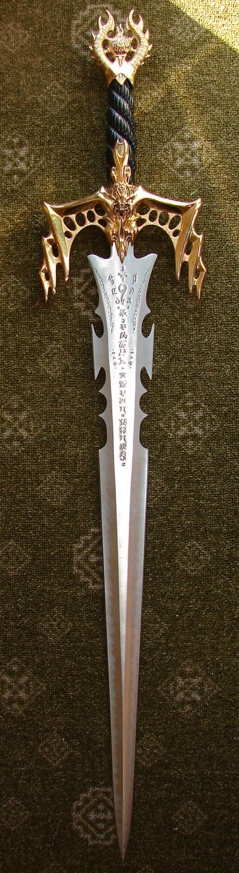 Golden Rune Sword by FantasyStock