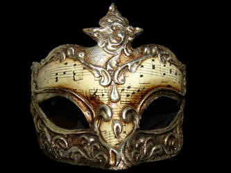 Gold Musical Venetian Mask by FantasyStock