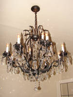 Bronze Crystal Chandelier by FantasyStock