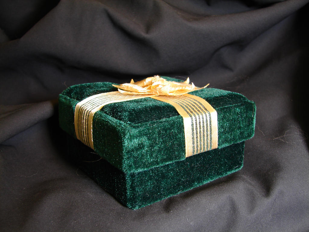 Green Velvet Gift Box 1 by FantasyStock