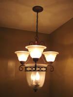 Bronze Light Fixture by FantasyStock