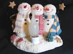 3 Winter Snowmen