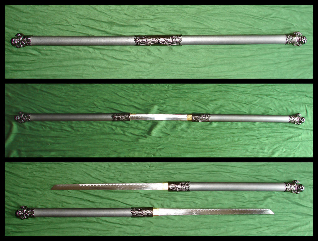 Double Katana Sword Staff by FantasyStock