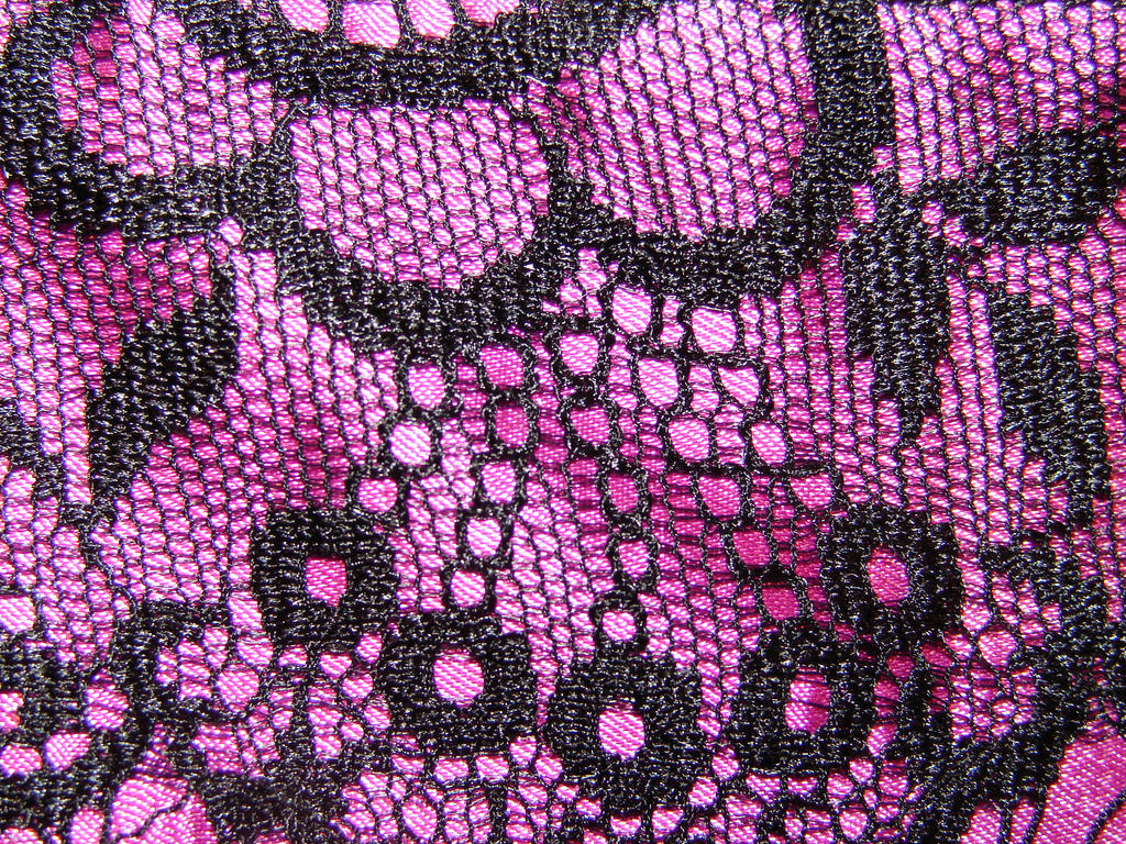 Black Lace on Pink Satin